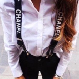 Vintage Chanel suspenders